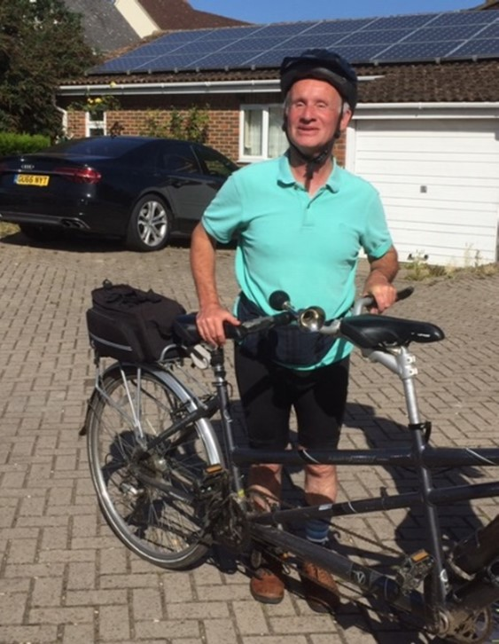 Jeff pictured with his tandem.